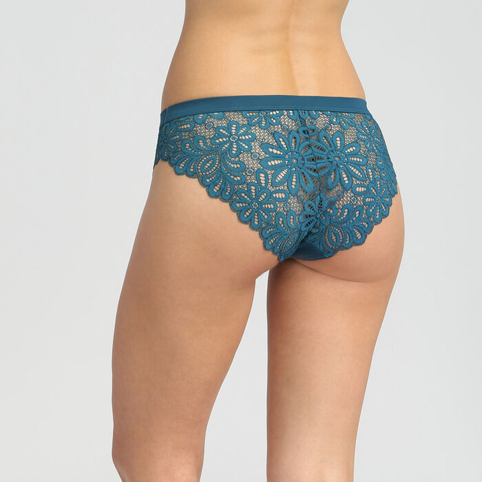 Lace organic blue briefs Daily Glam, , DIM