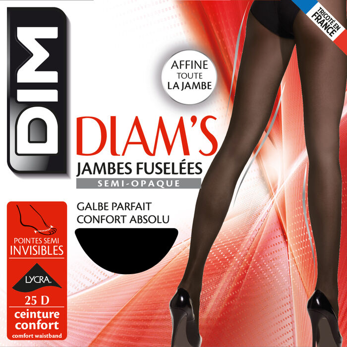 Ультра-непрозрачные шейпинг-колготки Diam's черного цвета 70D, , DIM
