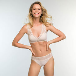 Push-up Bra in Light Beige Lace Daily Glam Trendy Sexy , , DIM