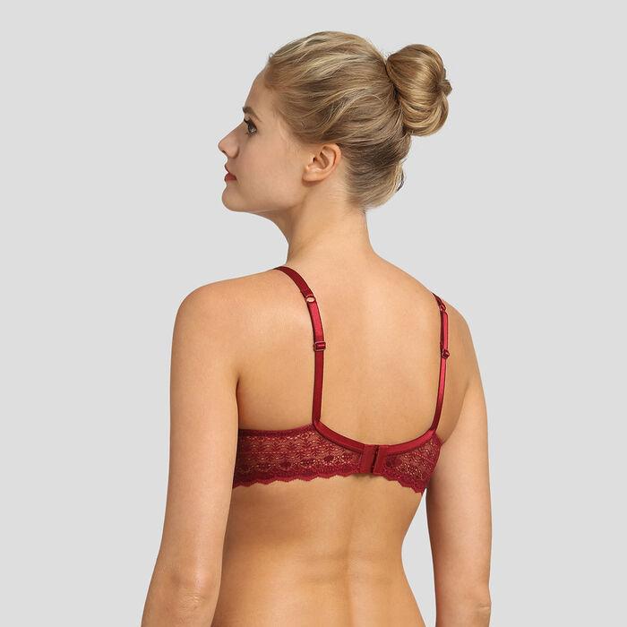 Soutien-gorge dentelle graphique et mesh plumetis rouge Daily Glam Dim, , DIM