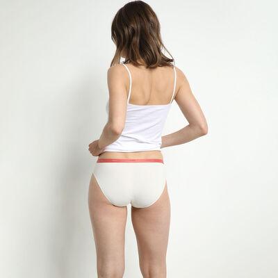Комплект из 5 женских трусиков-слипов из мягкого хлопка стрейч с женственными принтами-надписями Les Pockets, , DIM