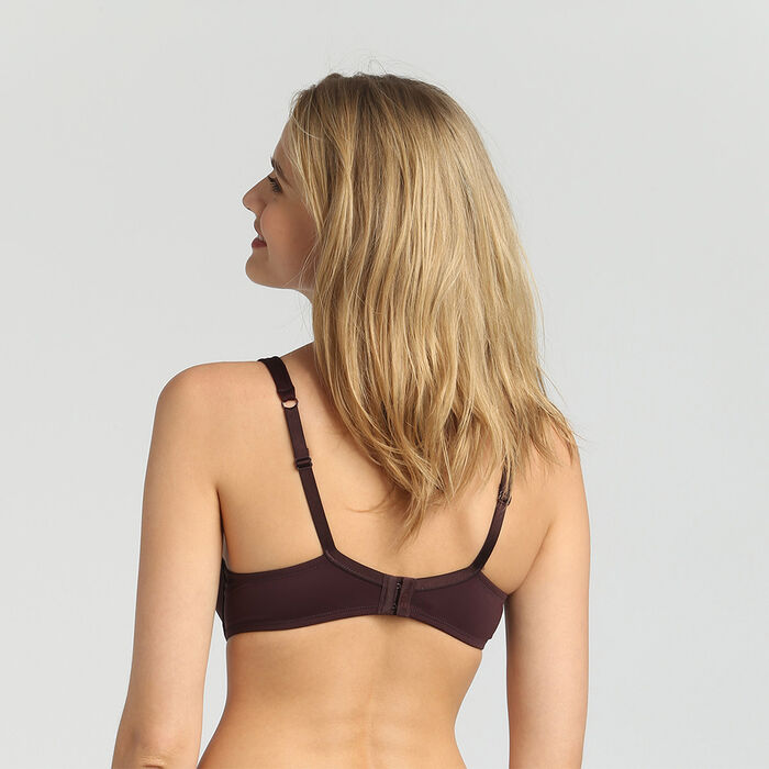 Generous Invisible precious brown padded balconette bra, , DIM