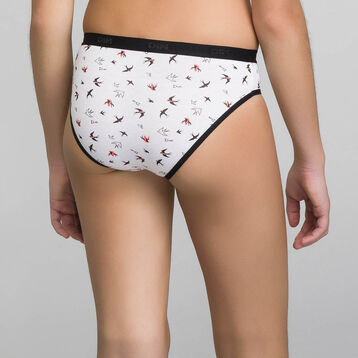 3-pack knickers with birds print - Pocket Birds, , DIM