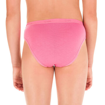 Pack of 3 pairs of Les Pockets DIM Girl knickers in pearl and pink - DIM