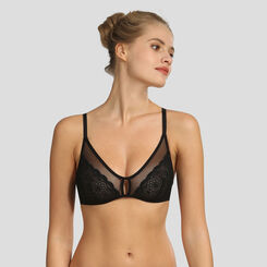 Dim Graphic Wedding soft black triangle bra, , DIM