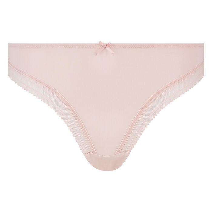Nude pink microfiber thong Dim Panty Box, , DIM