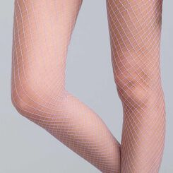 Style 70 lilac fishnet tights  - DIM