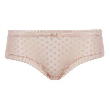 Nude Pink women's polka dot mesh shorty in Dotty Mesh Panty Box, , DIM