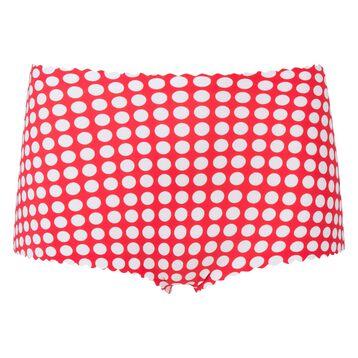 Shorty taille haute imprimé rouge pois blancs Agnès B. x Dim, , DIM