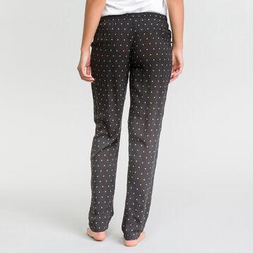 Pantalon pyjama noir à pois - Fashion, , DIM