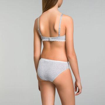 DIM TRENDY Girl mottled grey triangle bra - DIM
