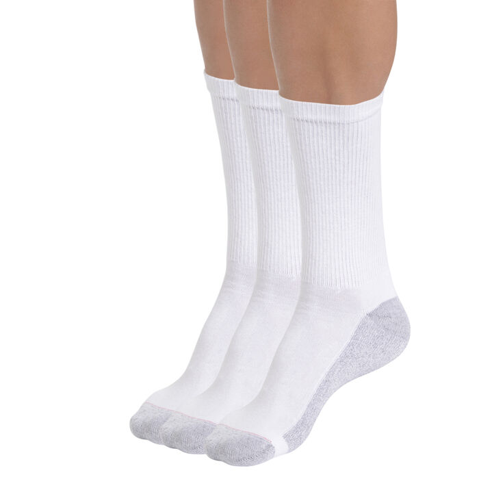 Pack of 6 white EcoDIM Men's sports socks, , DIM