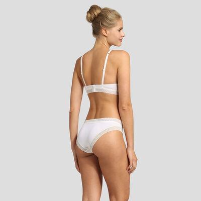Pearl white soft padded triangle bra Dim Trendy Micro, , DIM