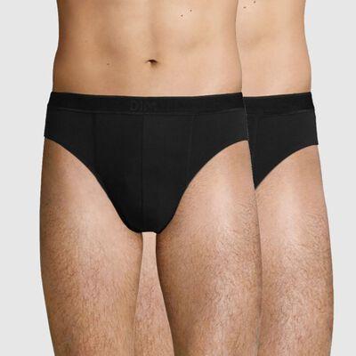 2 Pack men's trunks in Black Soft Stretch Cotton Soft Power, , DIM