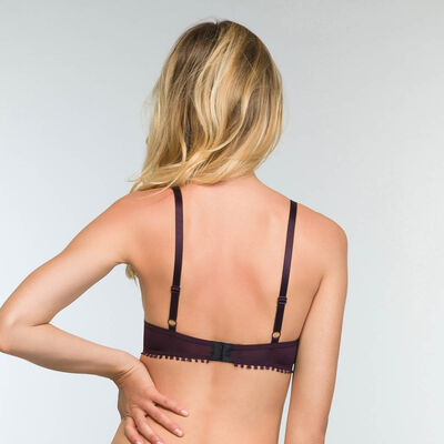 Triangle Push-up Bra in Precious Purple Lace Mod by Dim, , DIM