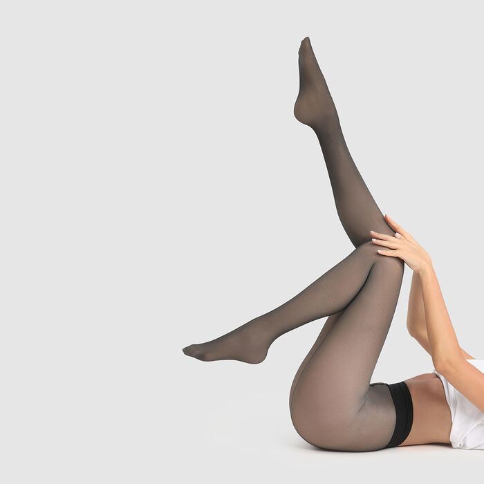 Dim 50D Warm black opaque transparent tights with Thermo protection, , DIM