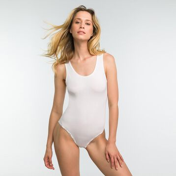 White bodysuit in cotton - DIM Originals, , DIM