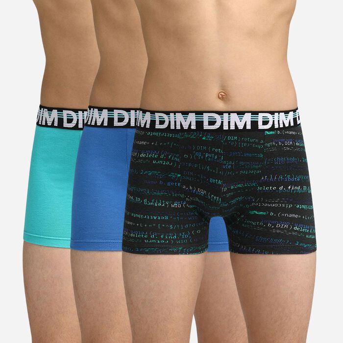 Pack de 3 bóxers azules Dim Boy, , DIM