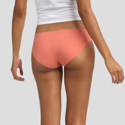 2 pack briefs in dark grey and coral brown Body Touch Cotton, , DIM