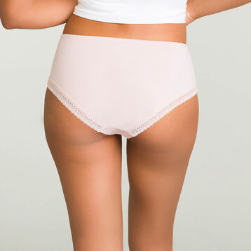 Women's microfiber shorty in Nude Pink Micro Lace Panty Box, , DIM