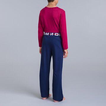 Pyjama 2 pièces t-shirt bordeau et pantalon bleu DIM Boy-DIM