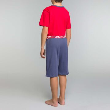 Red and blue pyjama set Dim Boy - Nuit up Star, , DIM
