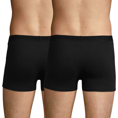 Lot de 2 boxers noirs en coton stretch soft pour homme Soft Power, , DIM