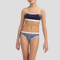 4 for 3 pack sailor blue stretch cotton briefs Dim Girl Les Pockets, , DIM