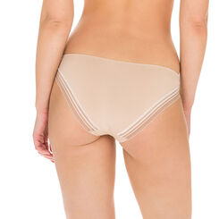 Invisi Fit second skin bikini knickers in barely beige, , DIM