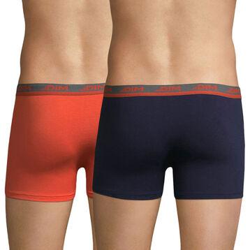 Lot de 2 boxers rouge feu et bleu cobalt Ultimate-DIM