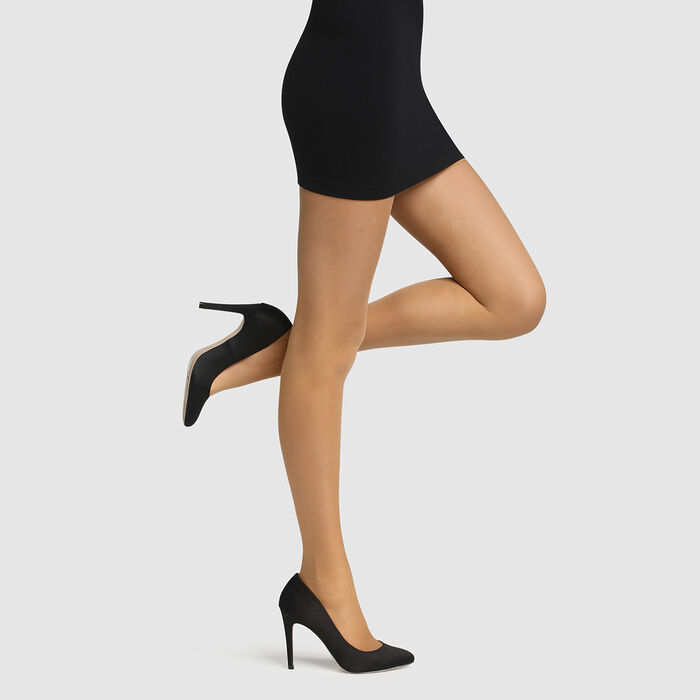 Hazelnut Diam's Contour 360° Semi-Opaque 25 slimming tights, , DIM