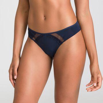 Culotte brésilienne bleu et noir Trendy Micro-DIM