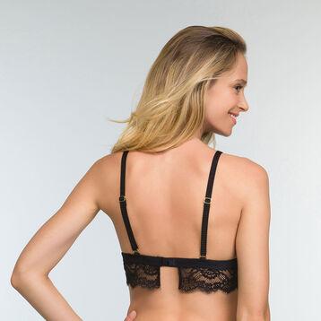 Black lace triangle bra for women Refined Lace, , DIM