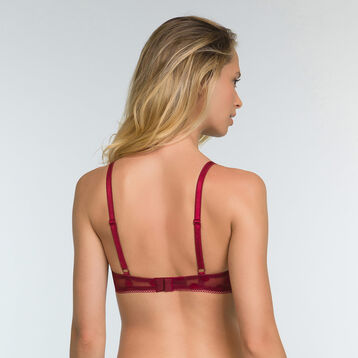 Cherry Red push up bra with polka dot print Dotty Line, , DIM