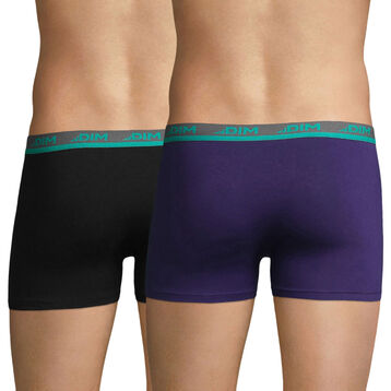 Lot de 2 boxers violet auburn et noir Ultimate-DIM