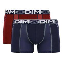 2 Pack men's trunks Red Chalk and Denim Blue 3D Flex Air, , DIM