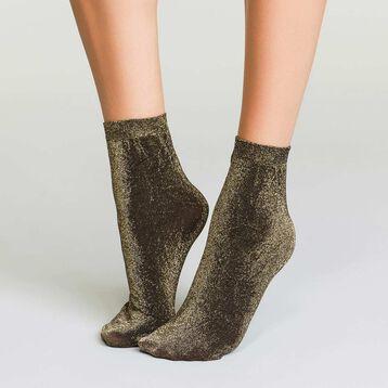 Lurex women's socks in gold color Style, , DIM