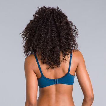 Generous peacock blue underwired bra - DIM