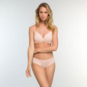 Skin pink microfiber push up triangle bra InvisiFree, , DIM