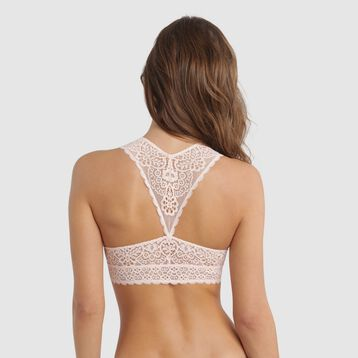 Bralette dentelle rose ballerine - Sublim Fashion, , DIM