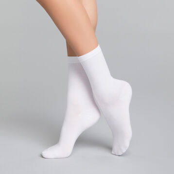 Women's white socks in cotton - Dim Basic Coton, , DIM