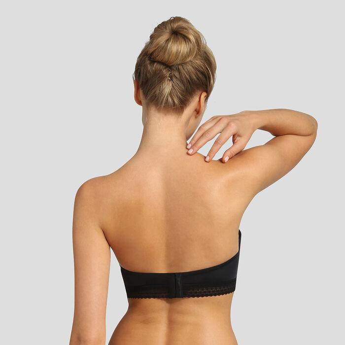 Black padded strapless bra Dim Trendy Micro, , DIM