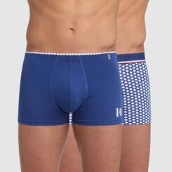 2 pack trunks in steel blue with ball print Dim Euro 2020 , , DIM