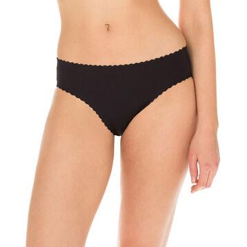 Body Touch Femme women's second skin bikini knickers in black, , DIM