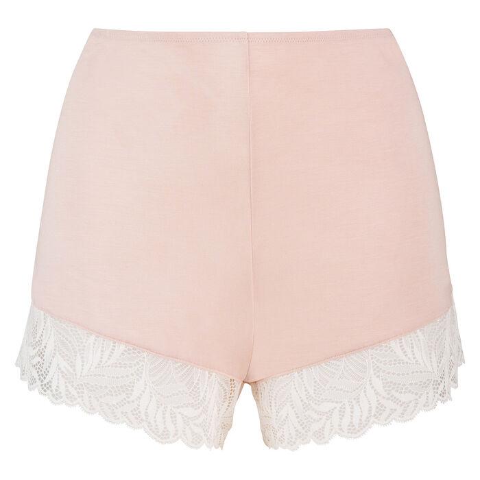 Short pyjama en coton modal et dentelle skin rose Cosy Lady de Dim, , DIM