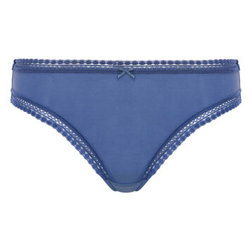 Porcelain Blue microfiber brief Micro Lace Panty Box, , DIM