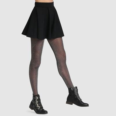 Dim Style 23D fancy tights in black lurex, , DIM