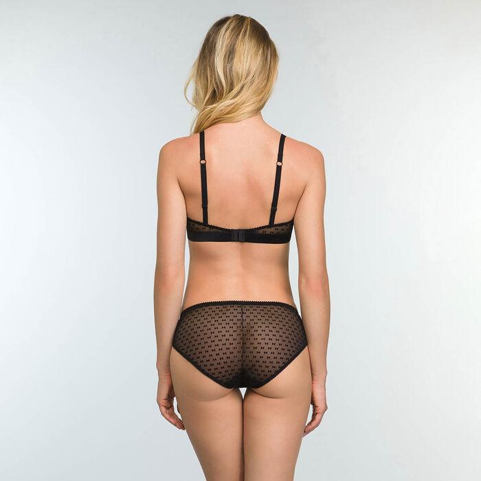 Women's Tulle Briefs Velvet Bow Tie Print Chic Line, , DIM