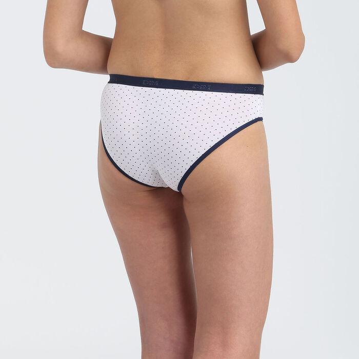 Lot de 3 culottes fille coton stretch motif japon Bleu Les Pockets, , DIM