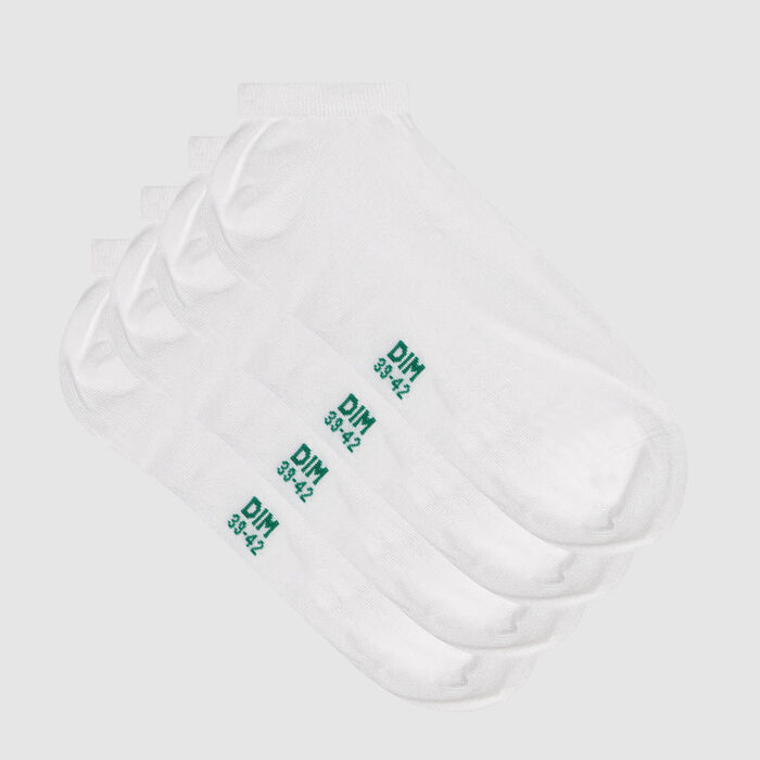 Pack of  2 pairs of men's socks cotton lyocell white Green by Dim, , DIM